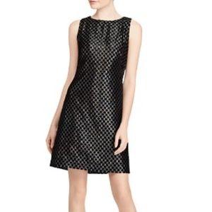 Lauren Ralph Lauren Velvet Polka Dot Lamé Dress